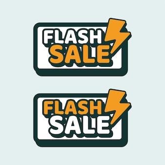 Venda flash texto mascotes vintage retro clássico