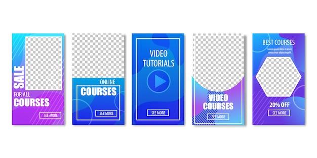 Venda para cursos de vídeo