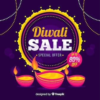 Venda plana de diwali com oferta especial