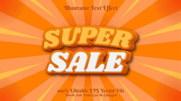 Venda premium editável 3d de efeito de texto