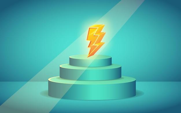 Venda relâmpago thunder icon 3d