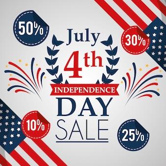 Vendas americanas do dia da independência