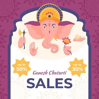 Vendas de ganesh chaturthi de mão desenhada