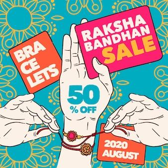 Vendas de raksha bandhan desenhadas à mão