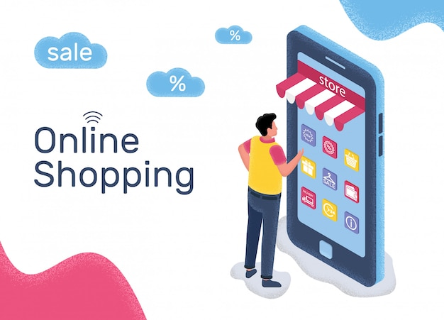 Vendas on-line de mercadorias