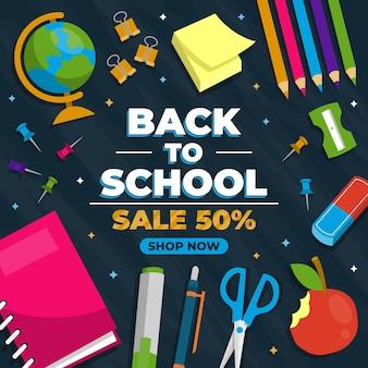 Vendas promocionais de volta às aulas