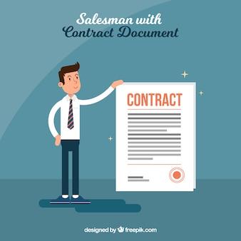 Vendedor com contrato