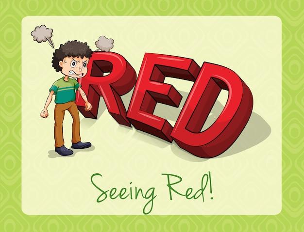 Vendo vermelho
