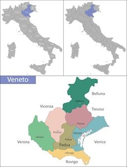 Veneto é uma das vinte regiões administrativas da itália, no nordeste do país