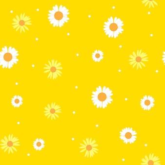 Verão abstrata sem costura de fundo com flores.