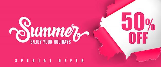 Verão aproveite as suas férias cinqüenta por cento das letras.