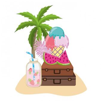 Verão e bebidas tropicais