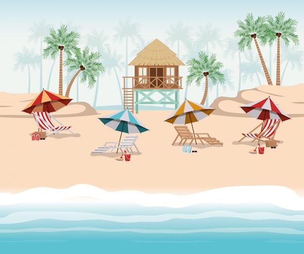 Verão e design de cabana de férias