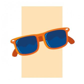 Verão e óculos vermelhos