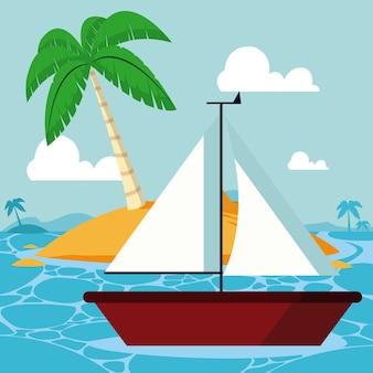 Verão e veleiro