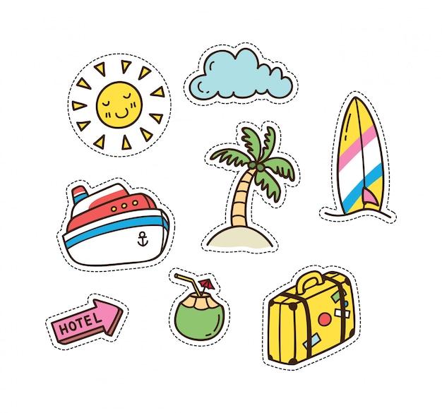 Verão e viagem com tema remendo bonito