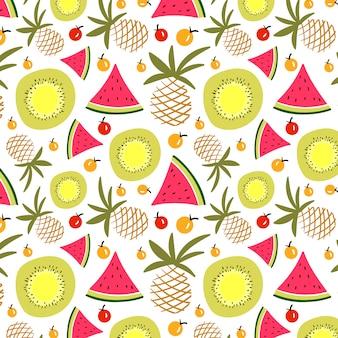 Verão padrão de frutas