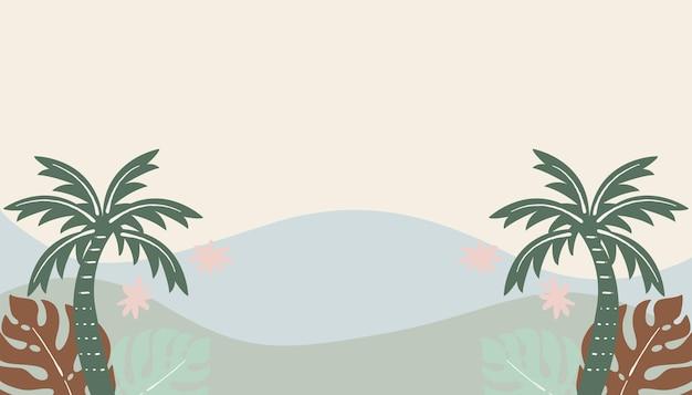 Verão tropical colorido fundo e papel de parede verão praia ilustração vetorial gráfico de verão