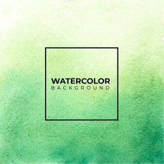 Verde abstrato aquarela, salpicos de cor no papel