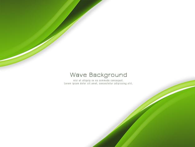 Verde abstrato ondulado