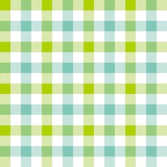 Verde azul verificar sem costura padrão de toalha de mesa
