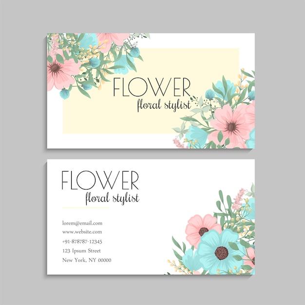 Verde da hortelã dos cartões de visitas da flor