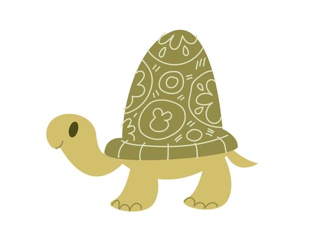 Verde do vetor do ícone da tartaruga. animal isolado cartoon clip-art plano