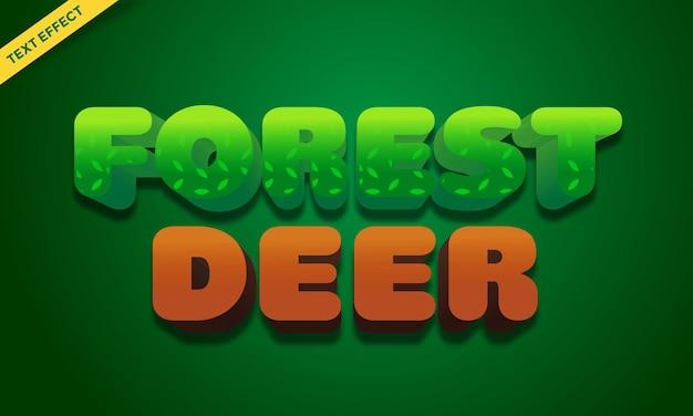 Verde floresta com efeito de texto de cervo
