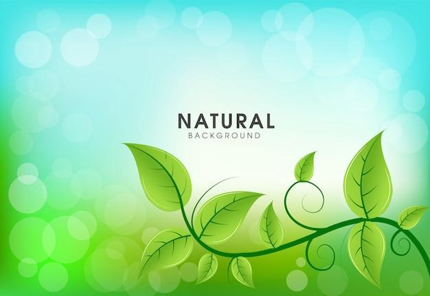 Verde folhas fundo natural