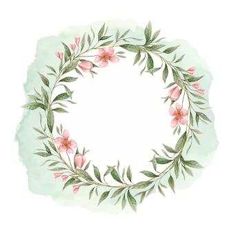 Verde linda grinalda floral linda