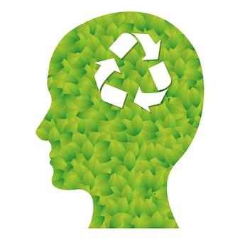 Verde pensa imagem de cuidado de ambiente