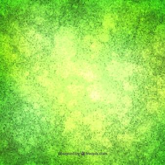 Verde pontilha o fundo da aguarela