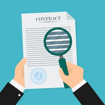 Verificação de contrato em estilo plano