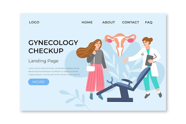 Verificação de ginecologia - página de destino