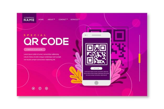 Verificação do código qr - página de destino