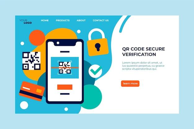 Verificação segura do código qr da página de destino