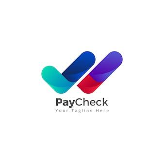 Verificar comprovação de pagamento verificado verificar vetor de ícone do logotipo