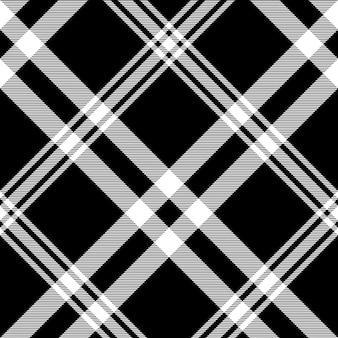 Verifique o padrão sem emenda de textura diagonal xadrez preto e branco