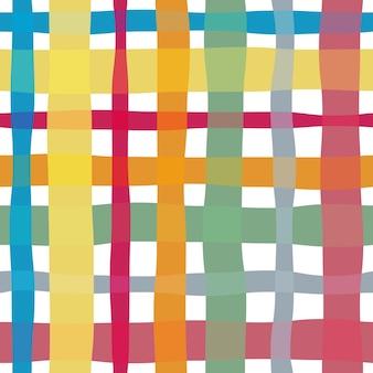 Verifique o padrão sem emenda em aquarela. fundo do vetor.