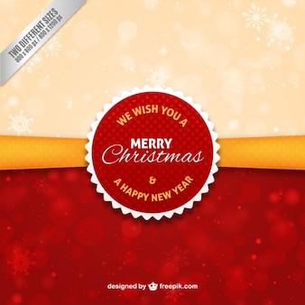 Vermelha do natal e do ano novo fundo de selo