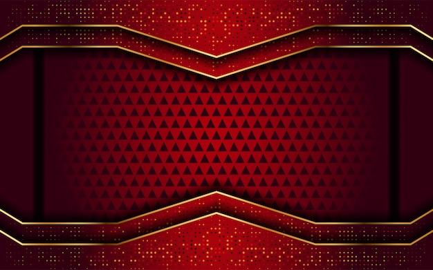 Vermelho com linha dourada moderna abstrato