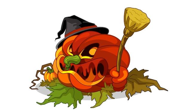 Vermelho de abóbora de halloween