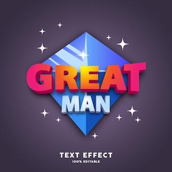Vermelho e branco com efeito de estilo de texto de jogo de diamante azul