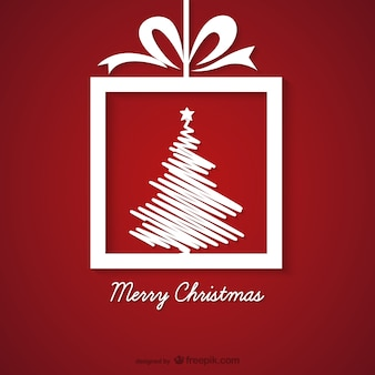 Vermelho e branco do cartão do natal