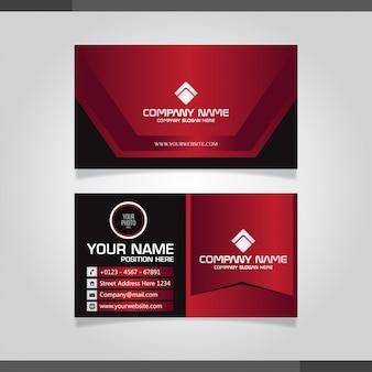Vermelho e preto cartão moderno com design abstrato