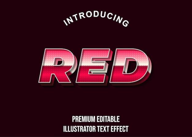 Vermelho - estilo de efeito de texto 3d