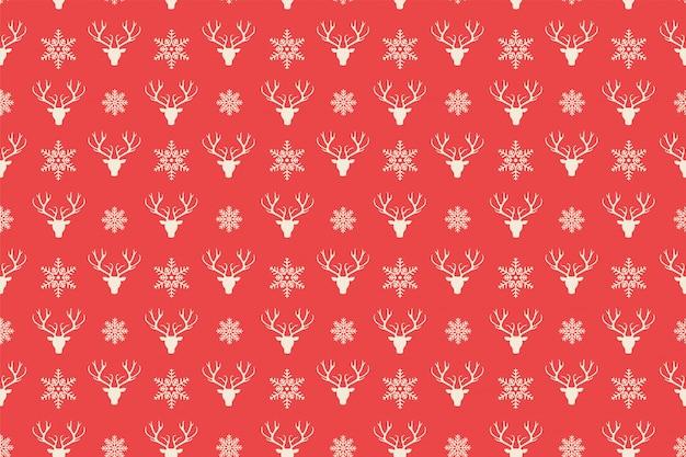 Vermelho feliz natal padrão sem emenda