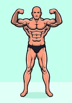 Versão de corpo inteiro forte fisiculturista
