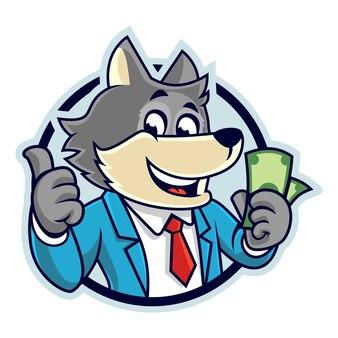 Versão do emblema do dinheiro do lobo