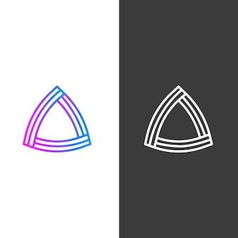 Versões abstratas do logotipo da empresa de negócios